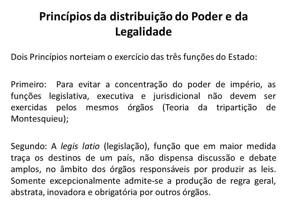 Fiscalização No Brasil, em regra: as funções legislativas são exercidas pelo Congresso Nacional, composto pela Câmara dos Deputados e pelo Senado Federal; as funções jurisdicionais são exercidas pelos diversos órgãos do Judiciário; e as funções executivas são exercidas pela Presidência da República, pelos Ministérios e pelos demais órgãos, além de autarquias.