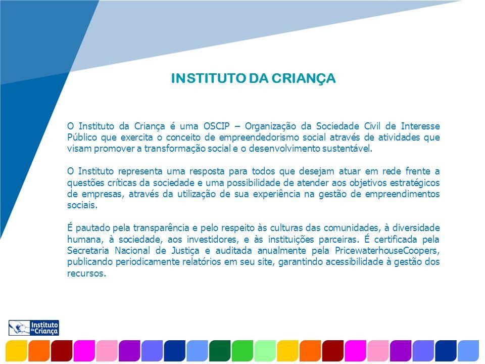www.company.com INSTITUTO DA CRIANÇA O Instituto da Criança é uma OSCIP – Organização da Sociedade Civil de Interesse Público que exercita o conceito