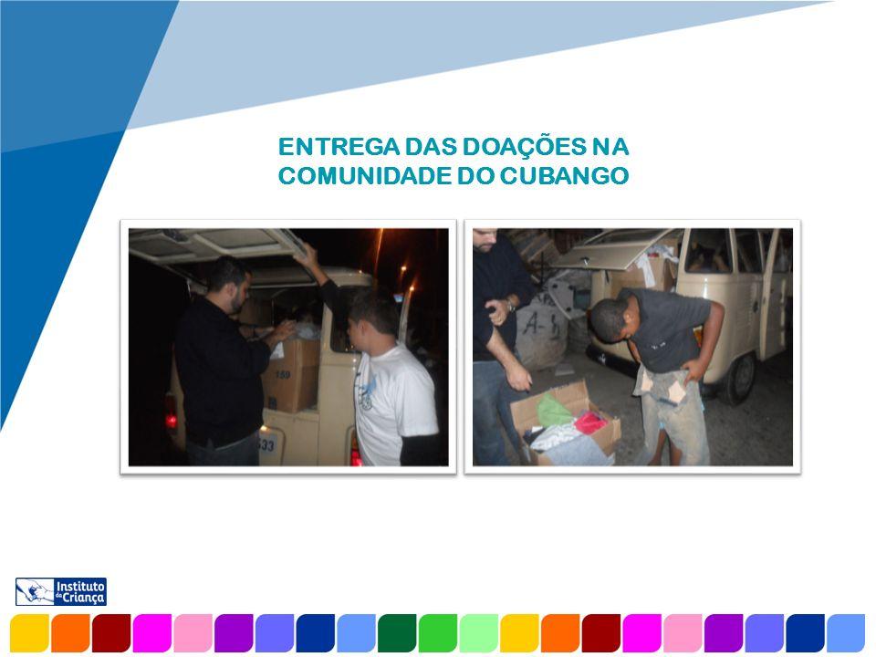 www.company.com AGRADECIMENTO O Instituto da Criança agradece a empresa Refurbished Clothes e, em especial, ao Alexandre Andrade pela doação de 2.000 peças de vestuário, entre elas roupas, sapatos e acessórios femininos, que revertemos para a ONG Alfa, localizada em Botafogo.