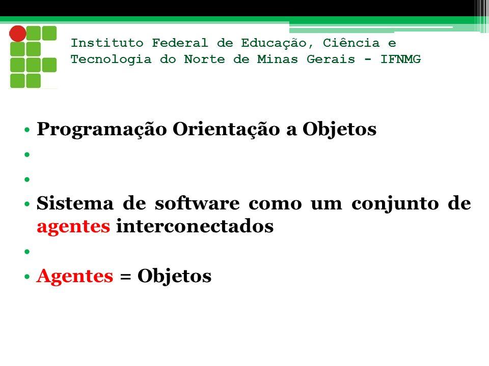 Instituto Federal de Educação, Ciência e Tecnologia do Norte de Minas Gerais - IFNMG Programação Orientação a Objetos Sistema de software como um conj