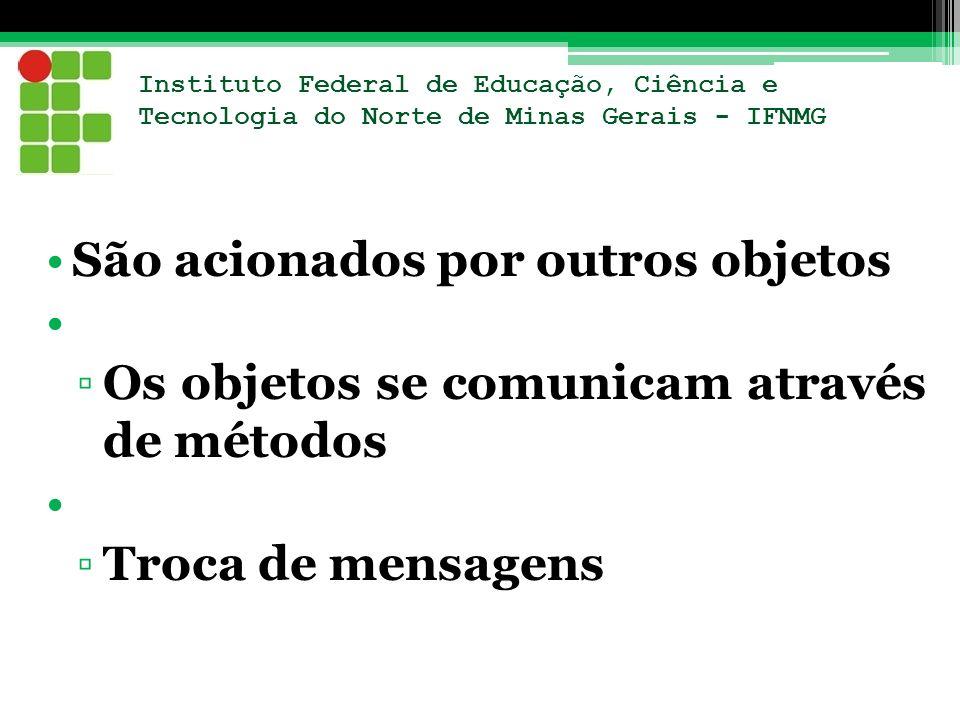 Instituto Federal de Educação, Ciência e Tecnologia do Norte de Minas Gerais - IFNMG São acionados por outros objetos Os objetos se comunicam através