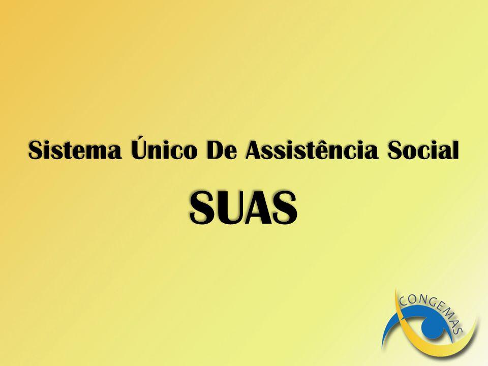 Sistema Único De Assistência Social SUAS