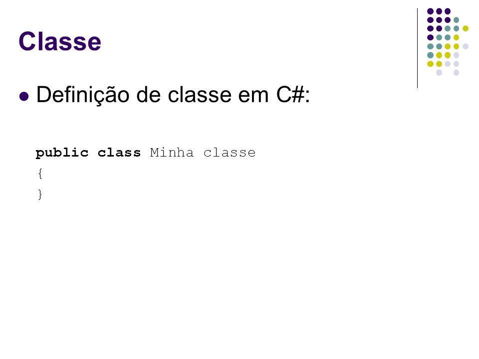 Herança Em C#, utiliza-se : para definir herança de classes Exemplos: public class : {...} public class Motorista : Funcionario{...} public class Engenheiro : Funcionario{...} 29
