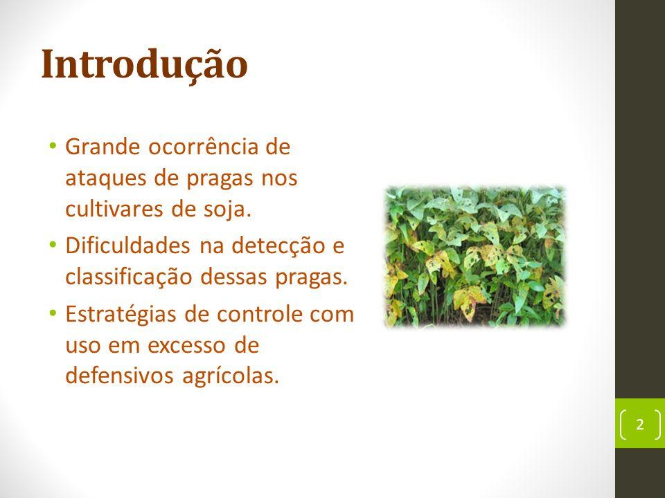 Introdução Grande ocorrência de ataques de pragas nos cultivares de soja.