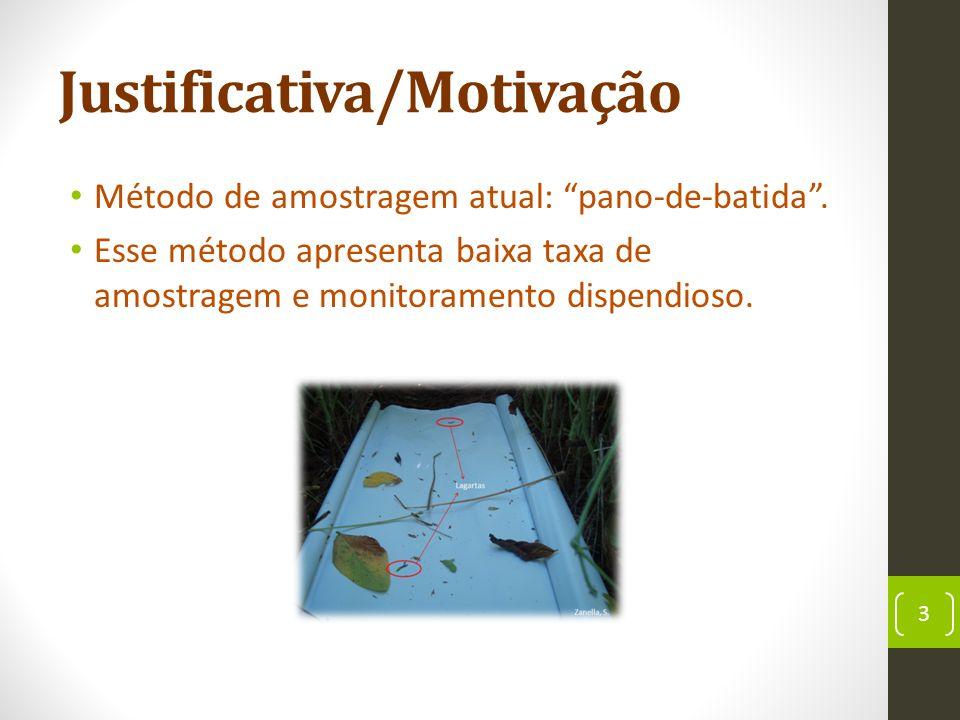 Justificativa/Motivação Método de amostragem atual: pano-de-batida.