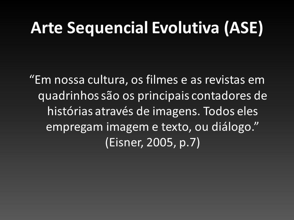 Arte Sequencial Evolutiva (ASE) Em nossa cultura, os filmes e as revistas em quadrinhos são os principais contadores de histórias através de imagens.