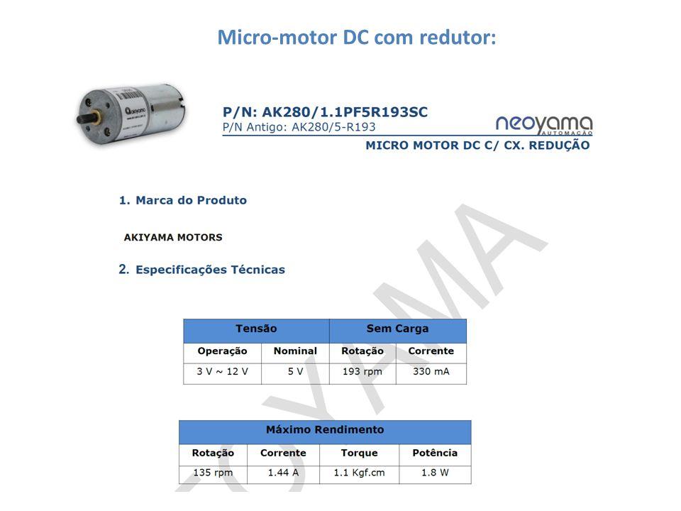 Micro-motor DC com redutor: