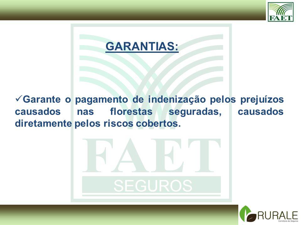 Garante o pagamento de indenização pelos prejuízos causados nas florestas seguradas, causados diretamente pelos riscos cobertos.