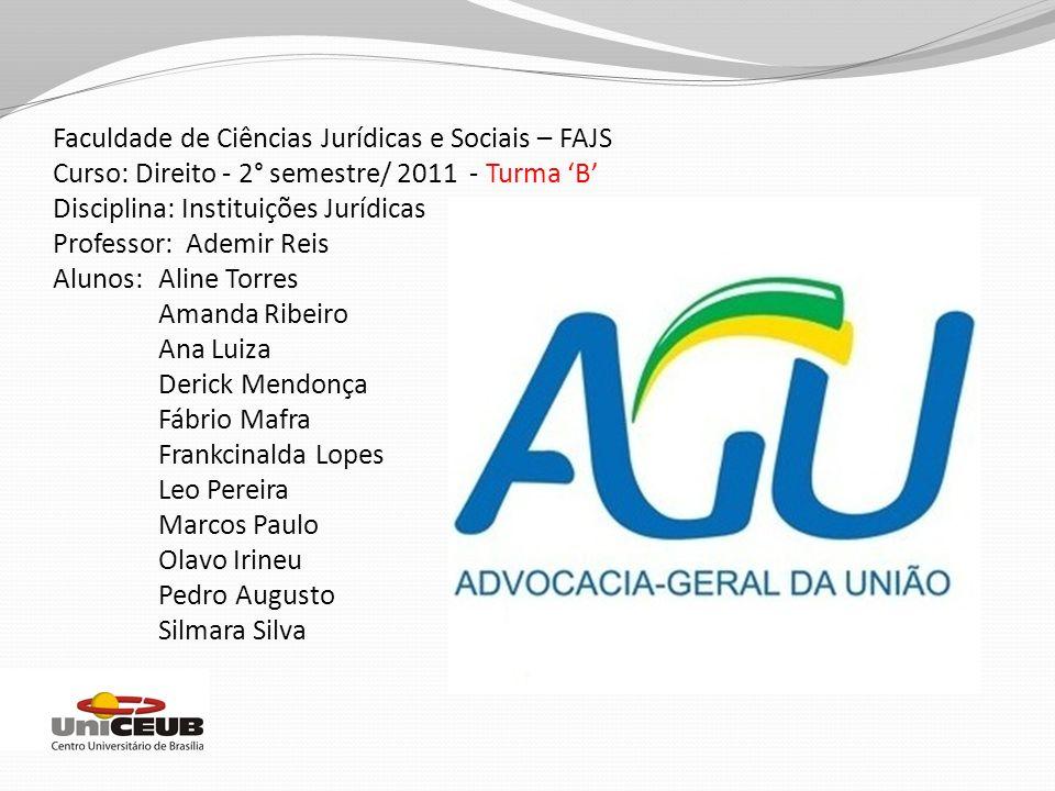 Conclusão De acordo com informações contidas no sítio da AGU, a instituição seria uma estrutura a parte do Executivo, Legislativo e Judiciário.