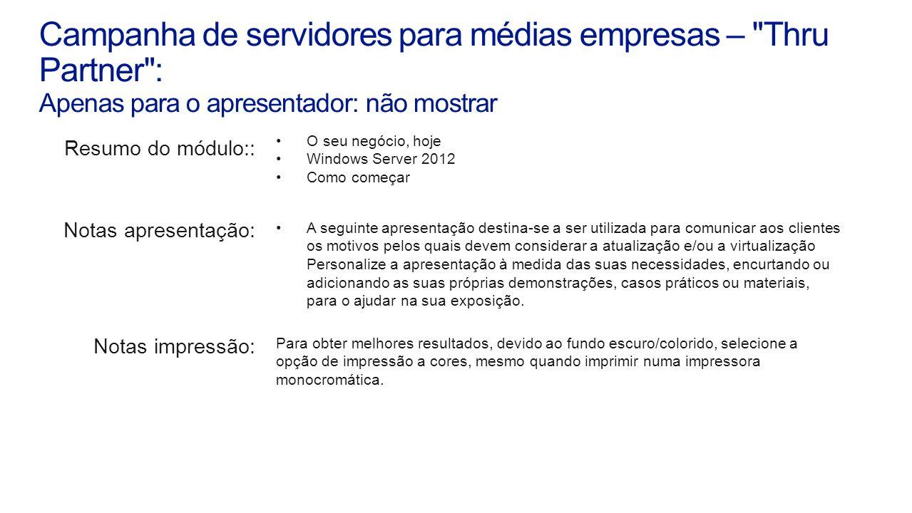 Campanha de servidores para médias empresas –