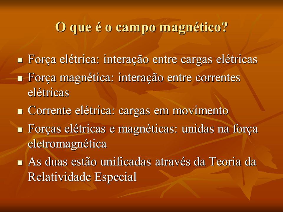 Sistemas de unidades Sistema Internacional Sistema Internacional B = H + M B = H + M Indução magnética B N / Am ou Wb / m 2 Indução magnética B N / Am ou Wb / m 2 Intensidade campo magnético H A / m Intensidade campo magnético H A / m Nos últimos anos: Nos últimos anos: N / Am ou Wb / m 2 = Tesla (T) N / Am ou Wb / m 2 = Tesla (T) Sistema CGS Sistema CGS Indução magnética B Gauss (G) Indução magnética B Gauss (G) Intensidade campo magnético H Oersted (Oe) Intensidade campo magnético H Oersted (Oe)