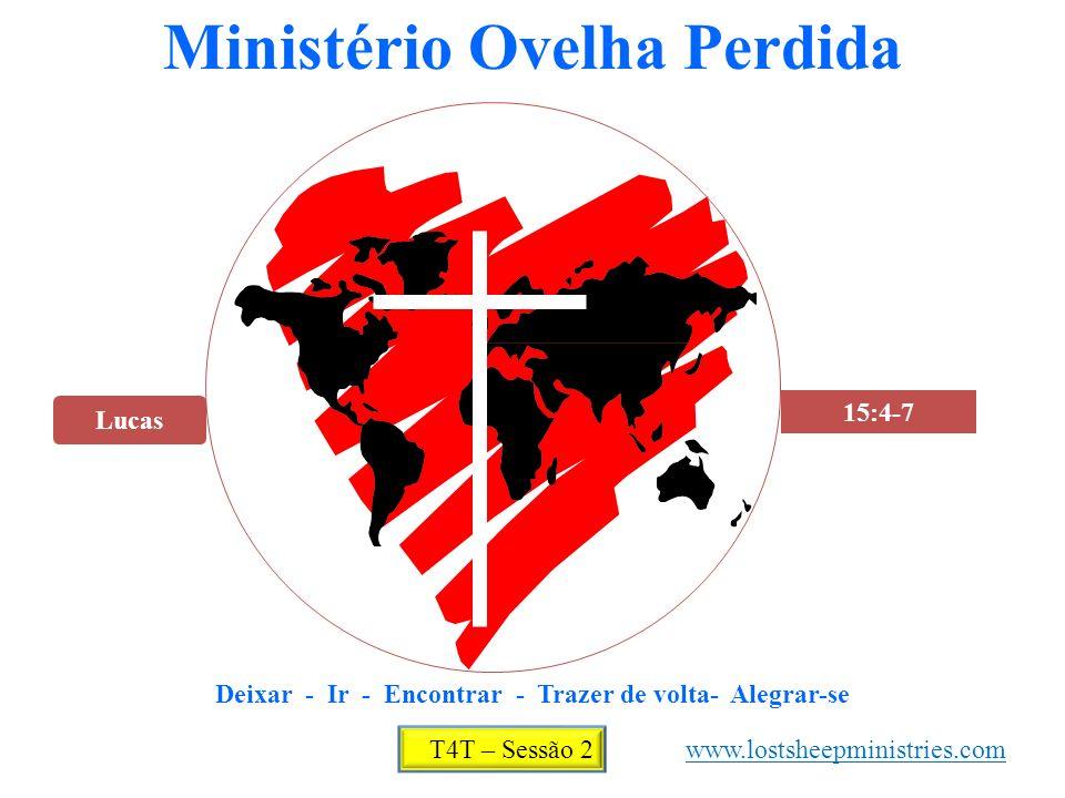 Lucas 15:4-7 Ministério Ovelha Perdida Deixar - Ir - Encontrar - Trazer de volta- Alegrar-se T4T – Sessão 2 www.lostsheepministries.com