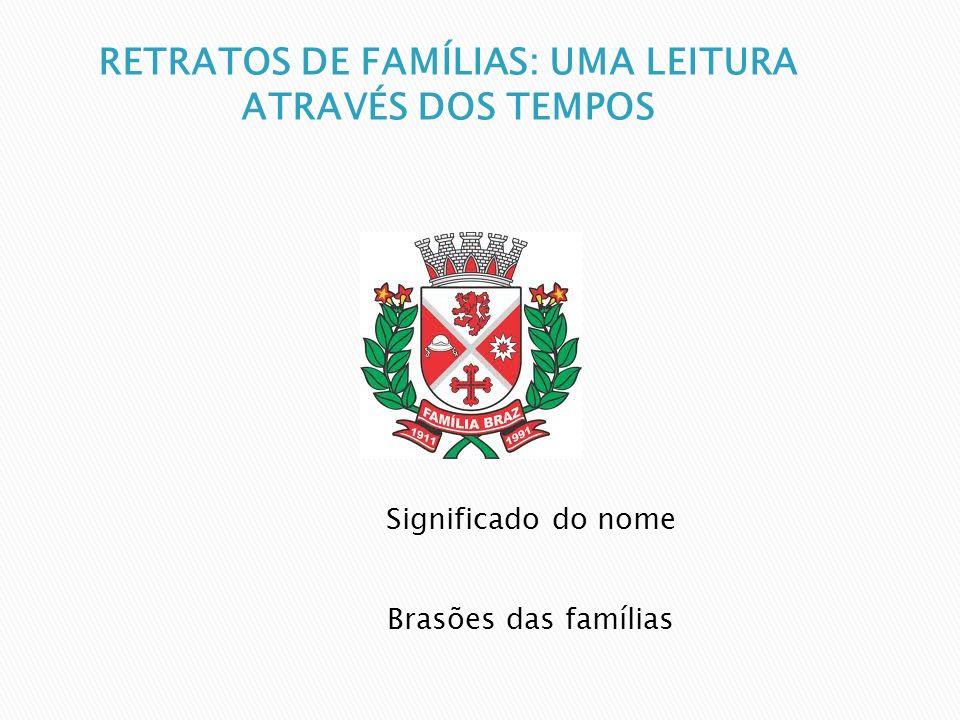 Significado do nome Brasões das famílias