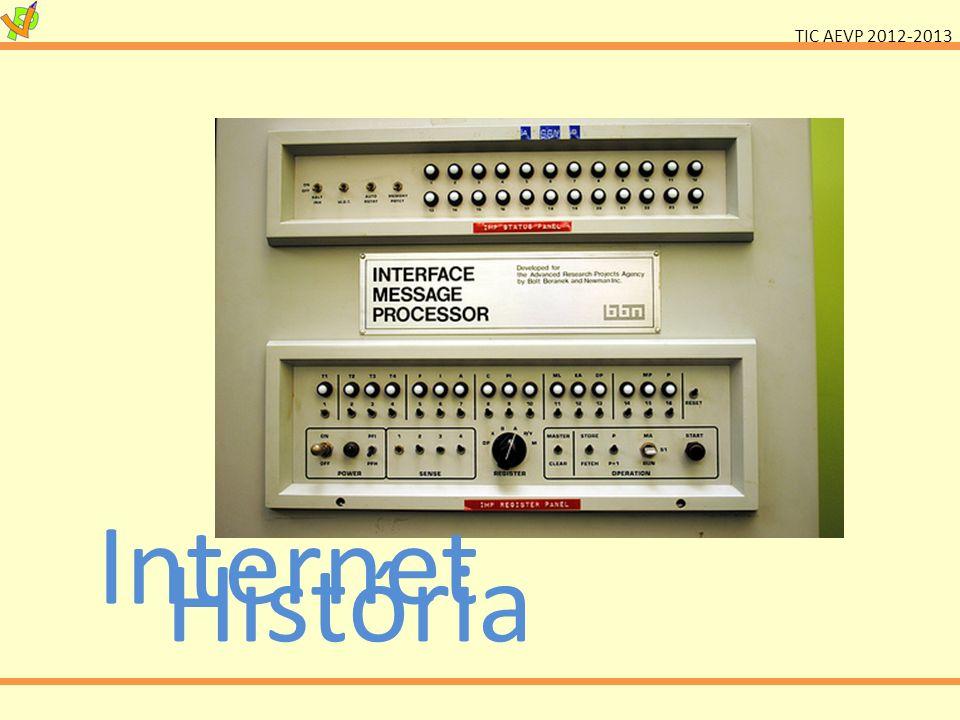 TIC AEVP 2012-2013 Internet História