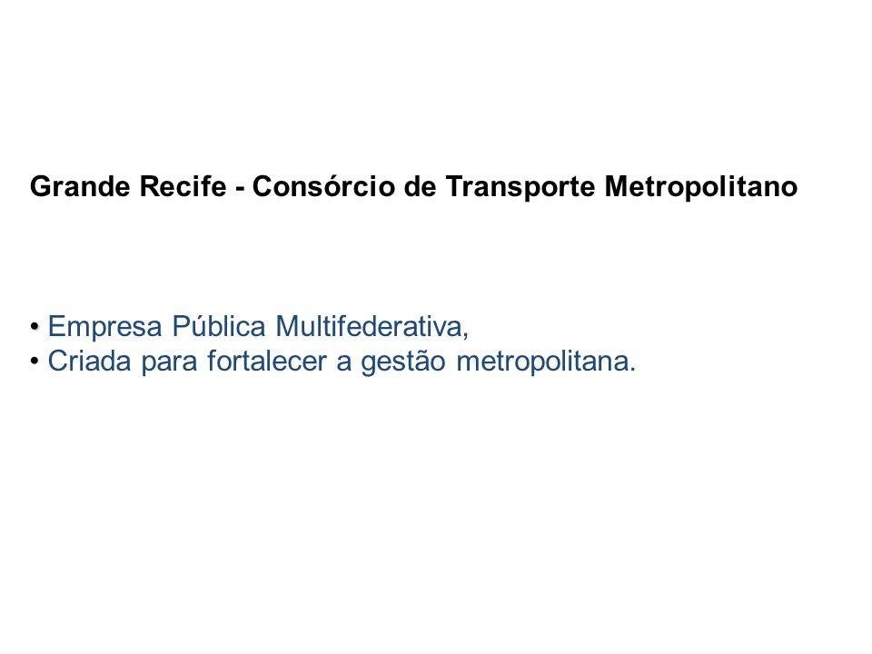 Grande Recife - Consórcio de Transporte Metropolitano Empresa Pública Multifederativa, Criada para fortalecer a gestão metropolitana.