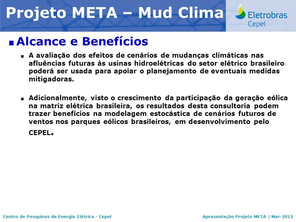 Centro de Pesquisas de Energia Elétrica - CepelApresentação Projeto META | Mar-2012 Modelo NEWAVE Alcance e Benefícios A avaliação dos efeitos de cená