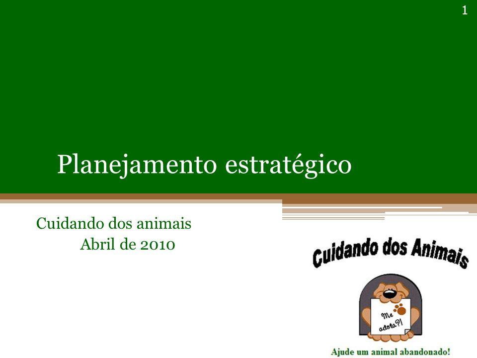 Planejamento estratégico Cuidando dos animais Abril de 2010 1