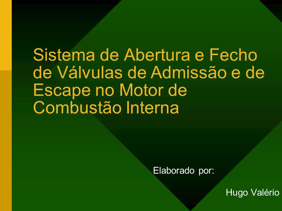 Sistema de Abertura e Fecho de Válvulas de Admissão e de Escape no Motor de Combustão Interna Elaborado por: Hugo Valério