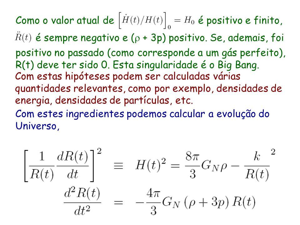 adicionalmente necessitamos de uma equação de estado que junto com o principio cosmológico requer que o Universo seja um fluido perfeito, logo T = dia