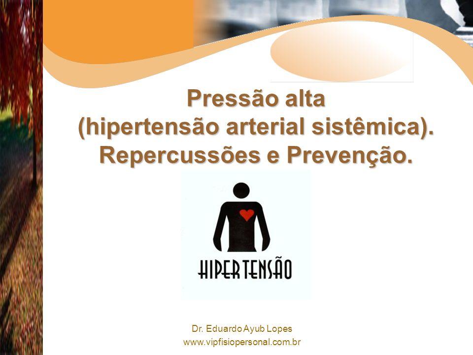 Dr.Eduardo Ayub Lopes www.vipfisiopersonal.com.br Pressão alta (hipertensão arterial sistêmica).
