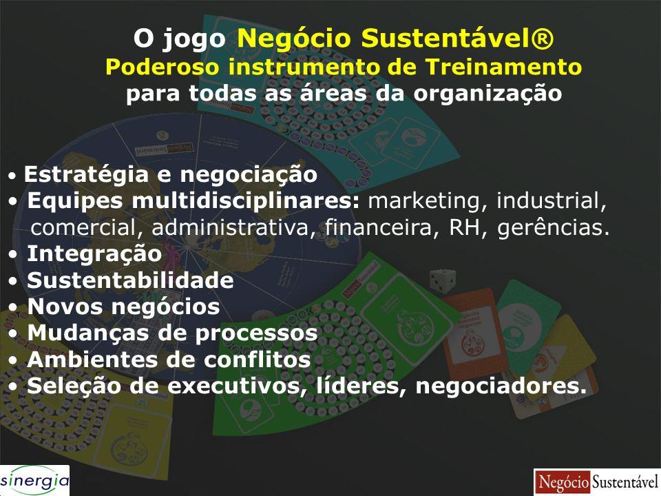 Estratégia e negociação Equipes multidisciplinares: marketing, industrial, comercial, administrativa, financeira, RH, gerências. Integração Sustentabi