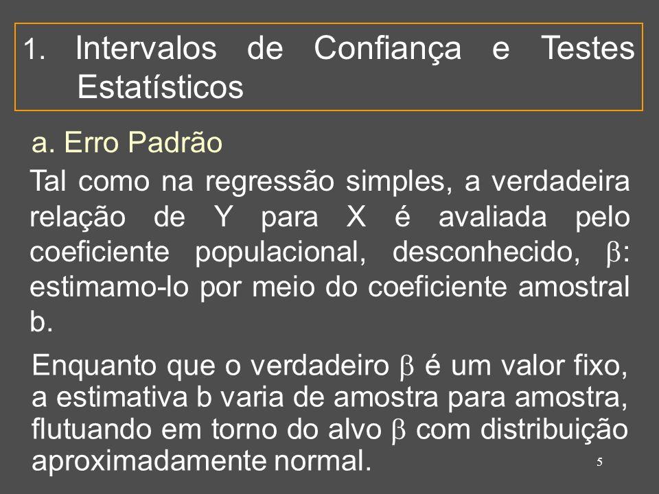 5 1. Intervalos de Confiança e Testes Estatísticos a.
