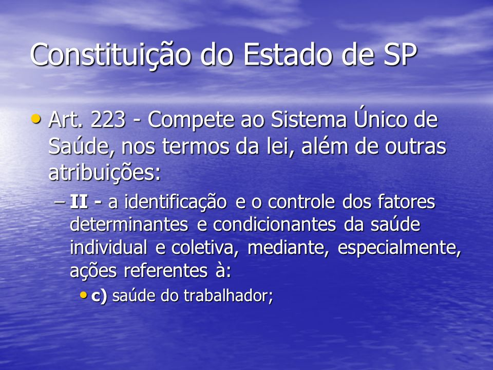Constituição do Estado de SP Art.