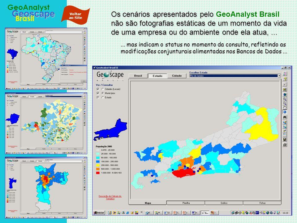 Geoscape Brasil GeoAnalyst Os cenários apresentados pelo não são fotografias estáticas de um momento da vida de uma empresa ou do ambiente onde ela at