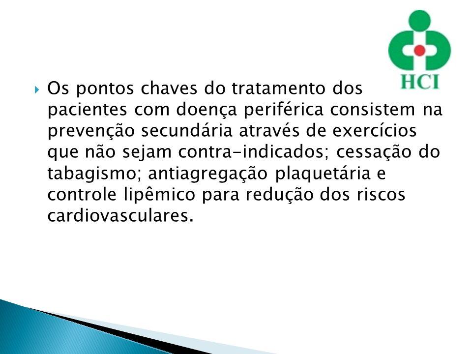 Os pontos chaves do tratamento dos pacientes com doença periférica consistem na prevenção secundária através de exercícios que não sejam contra-indica