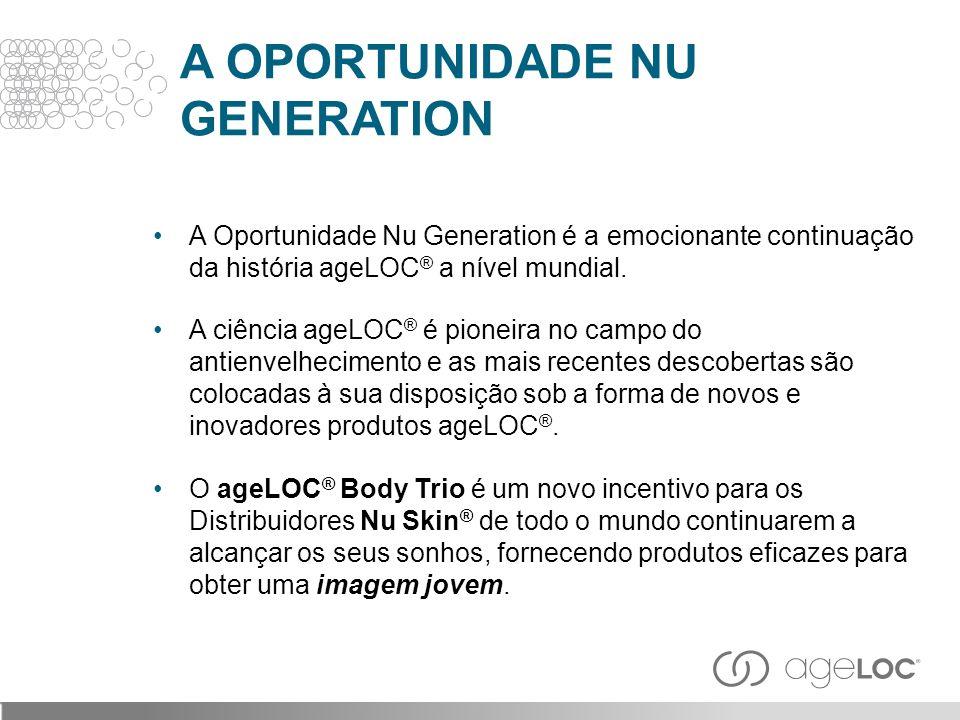 A OPORTUNIDADE NU GENERATION A Oportunidade Nu Generation é a emocionante continuação da história ageLOC ® a nível mundial. A ciência ageLOC ® é pione