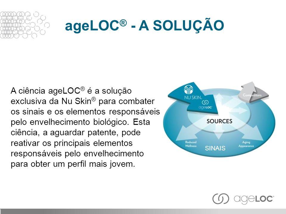 A ciência ageLOC ® é a solução exclusiva da Nu Skin ® para combater os sinais e os elementos responsáveis pelo envelhecimento biológico. Esta ciência,