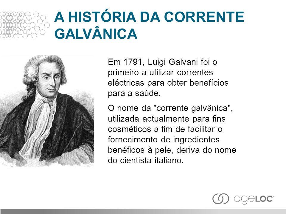 Em 1791, Luigi Galvani foi o primeiro a utilizar correntes eléctricas para obter benefícios para a saúde. O nome da