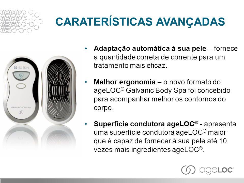 Adaptação automática à sua pele – fornece a quantidade correta de corrente para um tratamento mais eficaz. Melhor ergonomia – o novo formato do ageLOC