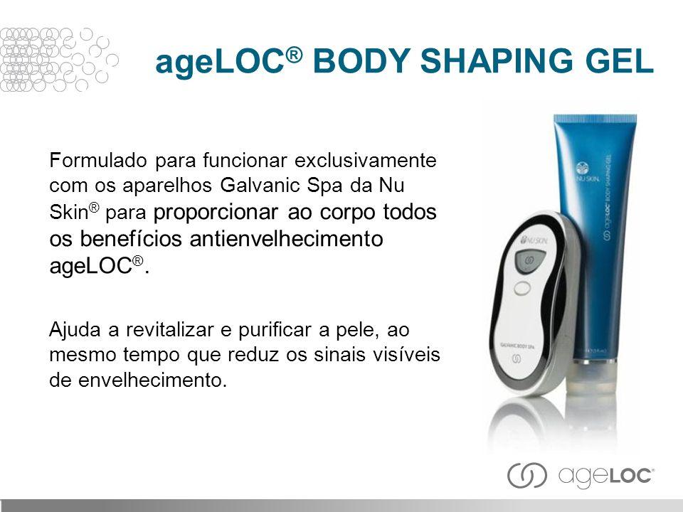 Formulado para funcionar exclusivamente com os aparelhos Galvanic Spa da Nu Skin ® para proporcionar ao corpo todos os benefícios antienvelhecimento a