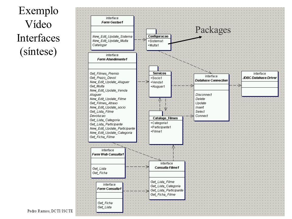 Pedro Ramos, DCTI/ISCTE Exemplo Vídeo Diagrama de Componentes