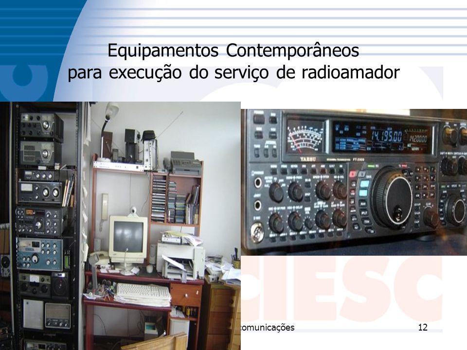 23/11/2006Técnico em Telecomunicações12 Equipamentos Contemporâneos para execução do serviço de radioamador