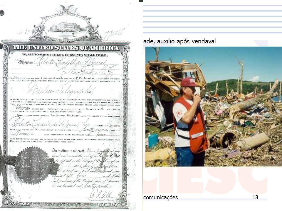 23/11/2006Técnico em Telecomunicações13 Radioamaor em atividade, auxilio após vendaval