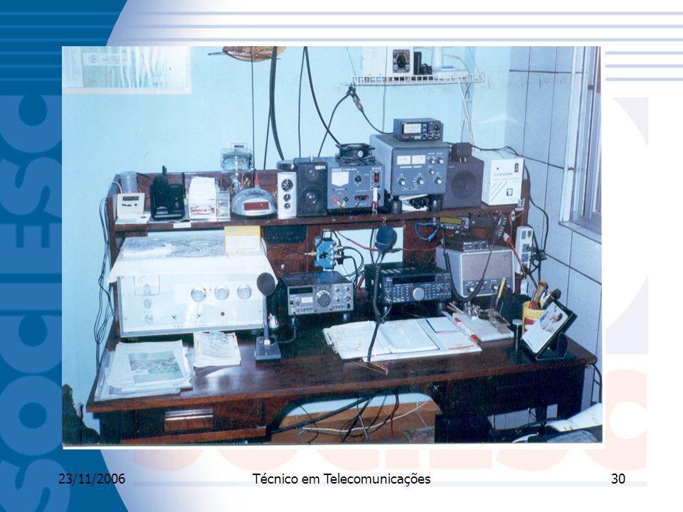 23/11/2006Técnico em Telecomunicações30