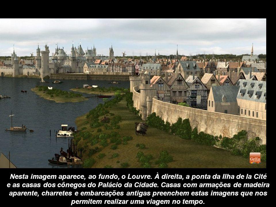 O Château du Louvre protegia a cidade a oeste, bloqueando a passagem do Sena com a Torre de Nesle (hoje extinta), na margem esquerda. Os habitantes at