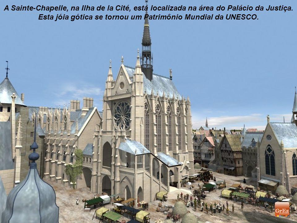 Esta imagem feita pela Grez Produções mostra o Palácio da Cidade na época medieval. Foi a residência dos reis da França entre os séculos X e XIV.
