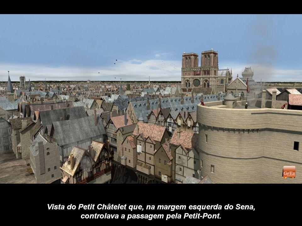 Na Idade Média, como os edifícios se alinhavam sobre as pontes, os pedestres cruzavam o Sena sem se dar conta de que estavam atravessando um rio. Aqui