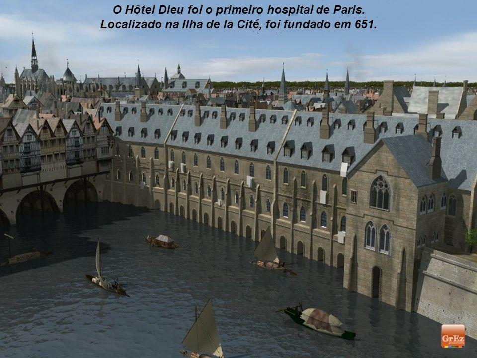 Vista do Petit Châtelet que, na margem esquerda do Sena, controlava a passagem pela Petit-Pont.