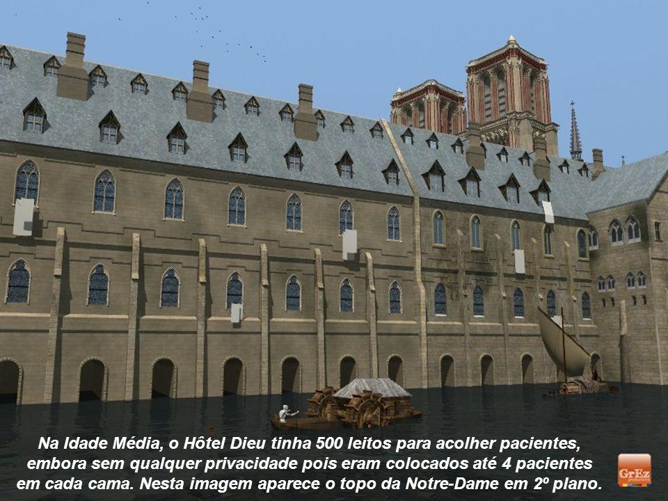 O Hôtel Dieu foi o primeiro hospital de Paris. Localizado na Ilha de la Cité, foi fundado em 651.