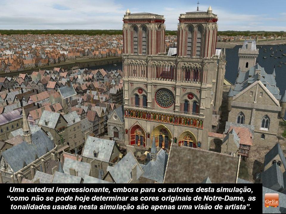 A entrada do Châtelet ficava do lado da Rue Saint-Denis. Na Idade Média, este era um prédio temido por suas masmorras. No fundo, no lado esquerdo da i