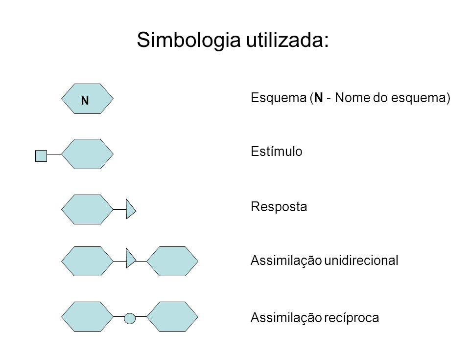 Simbologia utilizada: Esquema (N - Nome do esquema) Estímulo Resposta Assimilação unidirecional Assimilação recíproca N