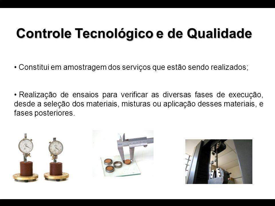 Controle de Qualidade Mais abrangente; Envolve a verificação dos resultados dos ensaios realizados para controle; Referências normativas; Análise quanto ao atendimento ou não das especificações do empreendimento; Acompanhamento da adequação das instalações; Calibração dos instrumentos ou equipamento utilizados para medição; Acompanhamento da adequação dos métodos e documentação utilizados; Acompanhamento da competência técnica e da experiência profissional dos envolvidos, Enfim, todos as condicionantes para garantir confiabilidade e adequação aos resultados obtidos.