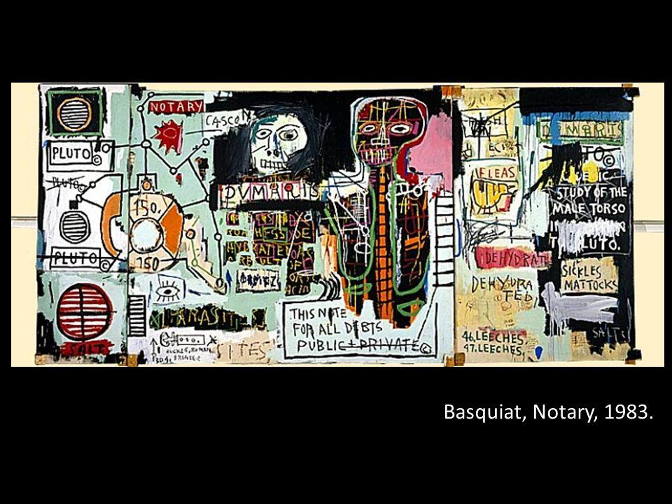 Basquiat, Notary, 1983.