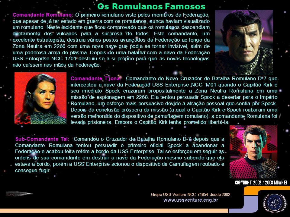 Grupo USS Venture NCC 71854 desde 2002 www.ussventure.eng.br O Dispositivo de Invisibilidade Romulano Ave de Rapina Romulana: Seu dispositivo de camuf