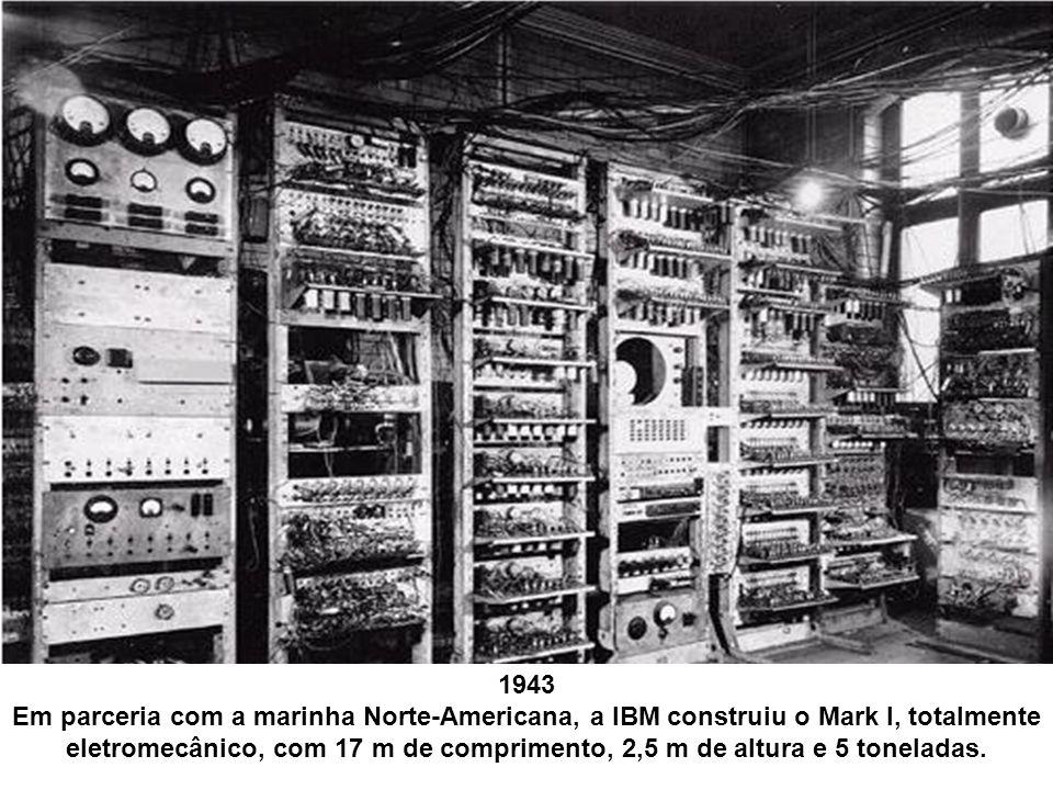 Usado para fins bélicos, o primeiro computador automático continha 750.000 partes unidas por, aproximadamente, 80 km de fios.