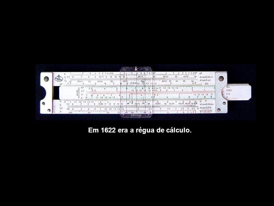 Em 1642, a máquina de Pascal tentava calcular.